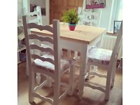 SOLID PINE TABLE WITH 4 CHAIRS FREE DELIVERY