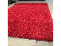 Brand new stylish red rug size 110 cm x 160 cm