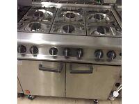 Commercial Falcon 6 Burner Open Top Oven range