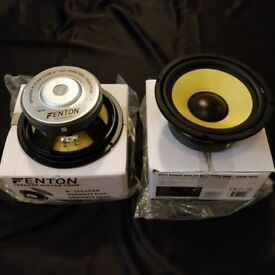 "Fenton Kevlar Bass Drivers (X2), 250-500w 8"" - Brand new in boxes never used"