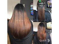 Russian Brazilian Indian remy human hair extensions nano micro rings hot fusion from £150