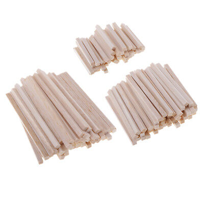 50x Balsa Wood Square Wooden Stick for Kids Children DIY Christmas Ornament](Christmas Ornament Crafts For Kids)
