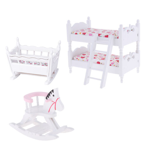 1 12 dollhouse furniture children bedroom bunk