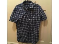 Diesel blue and white chequered shirt (Men's)