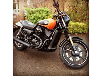 Harley Davidson Street 750 2016 one owner from new with custom paint