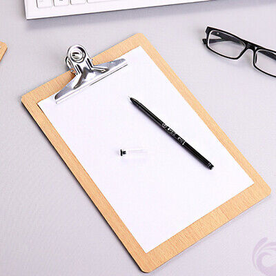 Mini Wood Clipboard Clip Hardboard 8.5 X 5.7 Inches - Handy And Secure Hold.