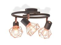 Ceiling Lamp with 3 LED Filament Bulbs 12 W-244395