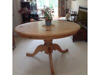 Pine Dining Table. Well built, in good condition.