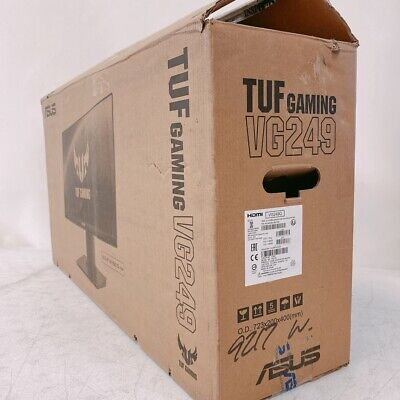 """Asus TUF Gaming VG249Q 23.8"""" Monitor 144Hz FHD 1920X1080 1ms + DP Cable Openbox"""