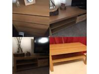 Ikea oak effect furniture set