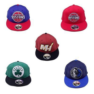 NBA Hat Cap Flat Brim Visor Wool 210 Fitted Adidas Celtics Pistons Mavs Heat Flat Brim Fitted Wool Cap