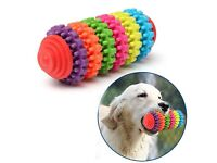1 Teeth Gums Chew Gear Toy Colorful Pet Dog Puppy Dental Teething Toy