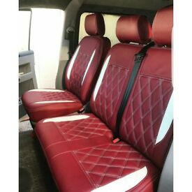 VW TRANSPORTER SEATCOVERS T3 T4 T5 T6 SHUTTLE ROCK AND ROLL BEDS CUSHIONS
