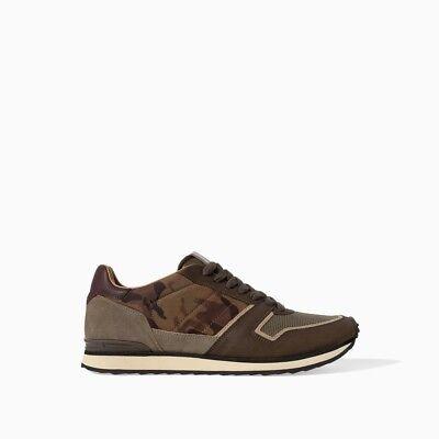 Zara Man Mens Camo Sneakers EU 45 US 12
