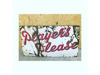 XL 'Players Please' Vintage Sign