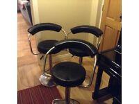 Three bar stools