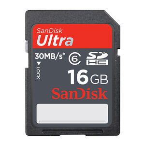 16GB-SanDisk-Ultra-SDHC-Class-6-30MB-S-SD-Card-SDSDU-016G-GENUINE-R