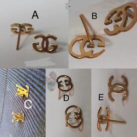 Earring STUDS - Gold plated - CHOOSE ONE