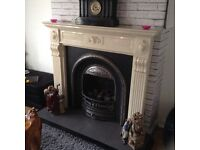 Real flame open gas fire plus surround