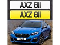 AXZ 811 - Short 3 digit NI Number Plate- Cherished Personal Private Registration plates