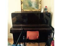 Upright Piano (Nathanial Berry & Sons) Dark Wood