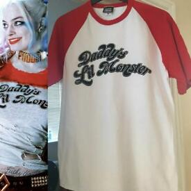 Suicide Squad Harley Quin t shirt large great Halloween costume !