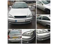 Vauxhall Astra Coupe 2001 1.6 16v SXI 3 Door Star Silver Z147 Front Bumper all parts available