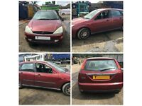 Ford Focus 2.0 Ghia Red 1999 4 Doors Front Bumper all Car Parts Available