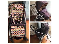 Mamas & Papas Sola pushchair and carrycot + rain cover