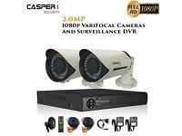 CASPERi 2MP Bullet Cameras & 1080P HD DVR kit 2.8mm-12mm VariFocal Lens 40M IR