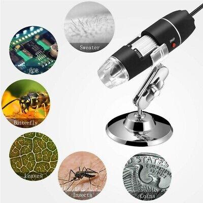 1600x 8 Led Usb Zoom Digital Microscope Hand Held Biological Endoscope Us