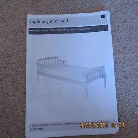 BRAND NEW SAPLINGS JUNIOR BED