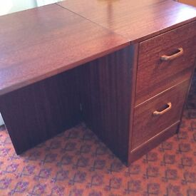 Home Office Desk with integral filing cabinet, free local delivery SO31