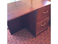 Home Office Desk with integral filing cabinet