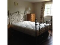 Brass double bed with mattress. Excellent condition.