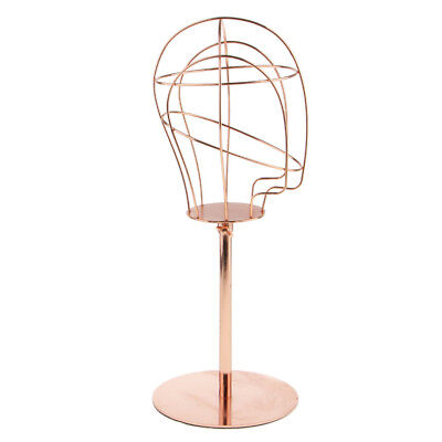Gold Metal Wire Mannequin Head Hat Rack Wig Holder Storage Display Stand 21