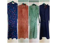 Job lot of vintage clothes - 1950s dresses need TLC, 70s 80s dresses skirts coats OPEN TO OFFERS
