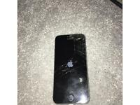 iphone 5s cracked screen but unlocked and working