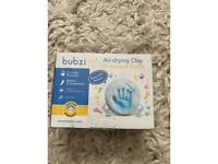 Baby clay ornament kit - 2 clay pouches for hand and foot print