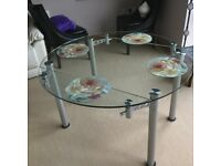 Extendable Palermo Round Glass Dining Table