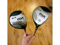 Pga collection ez fairway wood golf clubs 3 and 5