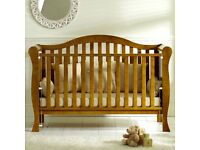 Beautiful Solid Oak Cot Bed.