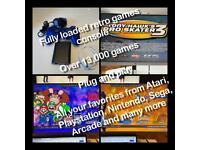 Retro games console raspberry pi