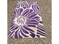 Lovely 100% Plum Wool Rug in excellent condition