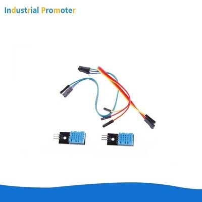 2pcs Dht11 Temperature Relative Humidity Sensor Module For Arduino With Cable
