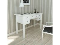 White Writing Desk with 5 Drawers-241533