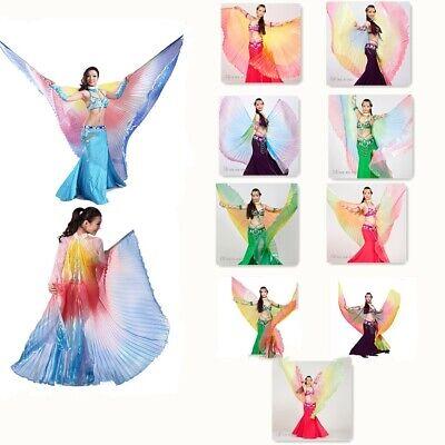 Cosplay kostüm farbverlauf bunte engel isis flügel bauchtanz regenbogen (Engel Bögen Tanz Kostüme)