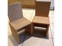 Two Children's chair for decorating to add a personal touch.