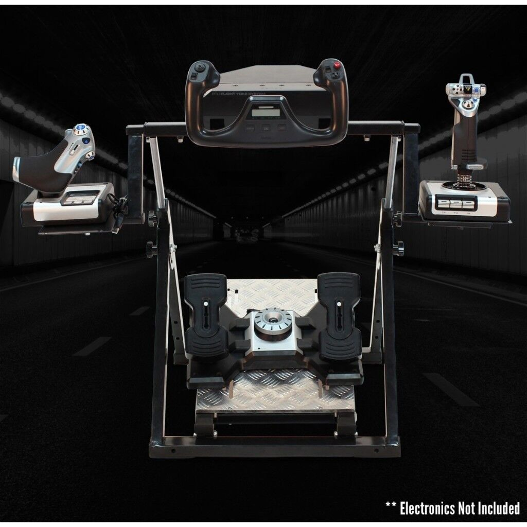 Next Level Flight Stand For Thrustmaster Saitek Flying Controls Racing Pagnian Floormat Image 1 Of 6