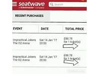 2 tickets impractical jokers
